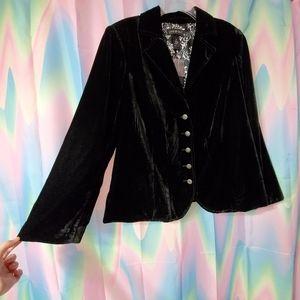 NWT Black Velvet Lane Bryant Jacket